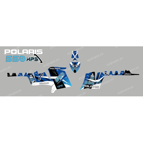 foto del kit, Kit de decoración de la decoración del Espacio (Azul) - IDgrafix - Polaris 550 XPS