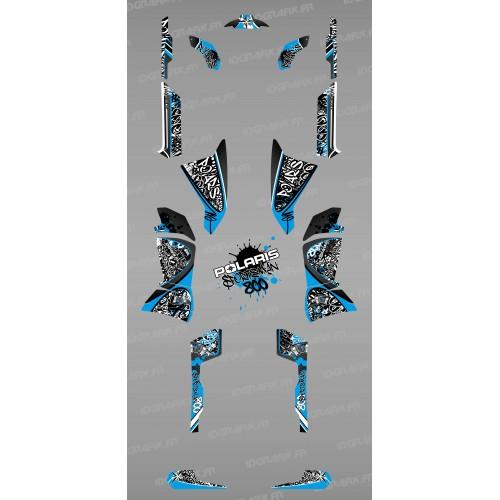photo du kit décoration - Kit décoration Bleu Tag - IDgrafix - Polaris 800 Sportsman