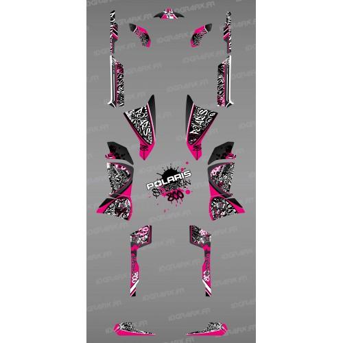 photo du kit décoration - Kit décoration Rose Tag - IDgrafix - Polaris 800 Sportsman