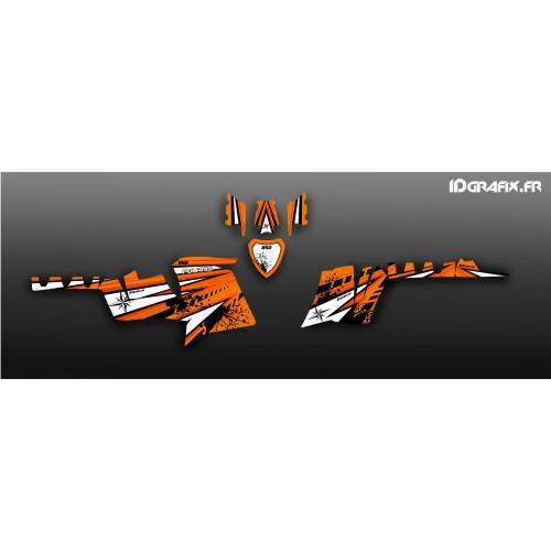 photo du kit décoration - Kit décoration Sunset (Orange) - IDgrafix - Polaris 850 XPS