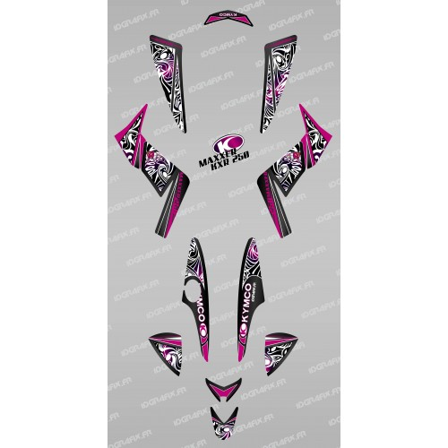 photo du kit décoration - Kit décoration Tribal Rose - IDgrafix - Kymco 250 KXR/Maxxer