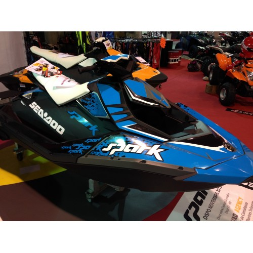 photo du kit décoration - Kit décoration Spark Blue pour Seadoo Spark