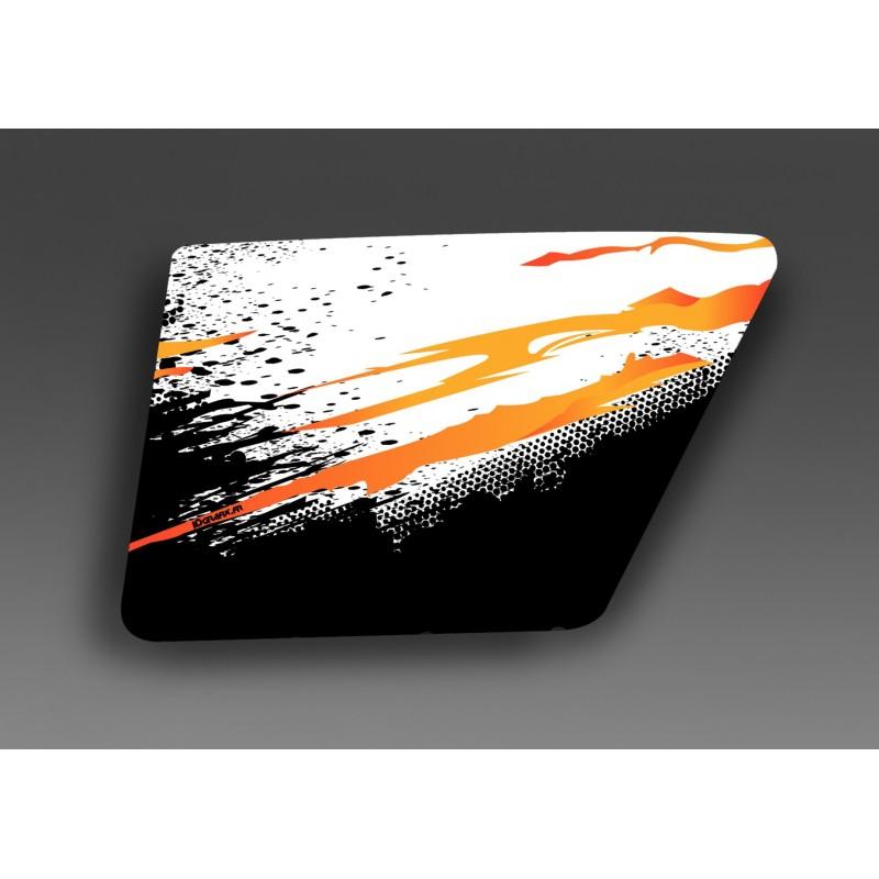 Kit d coration orange porte xrw normale idgrafix for Porte normale