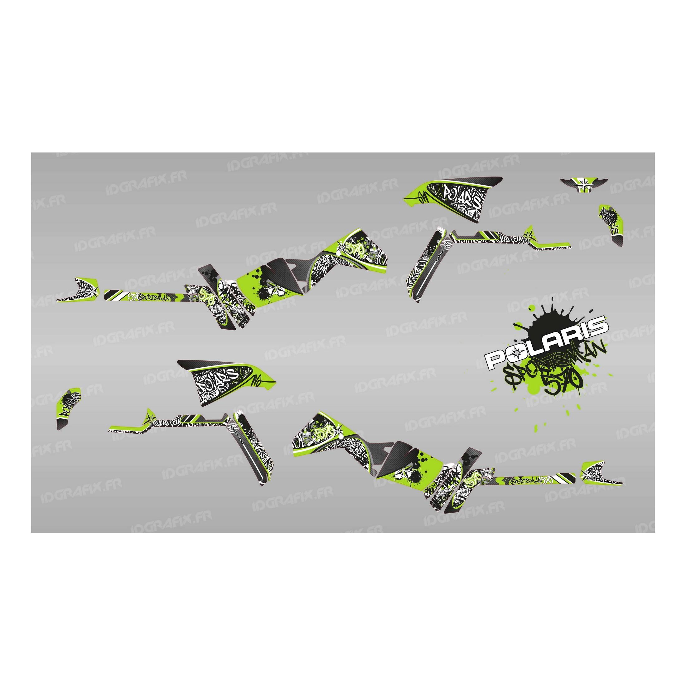 Kit décoration Tag Series (Vert) Light , IDgrafix , Polaris 570 Sportsman