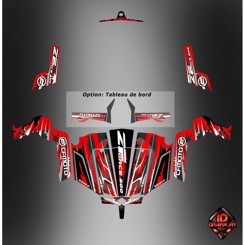 Kit d coration ltd edition idgrafix cf moto zforce 800 for Porte zforce 800