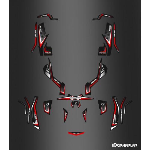 photo du kit décoration - Kit décoration X Limited Rouge - IDgrafix - Can Am Outlander (G1)