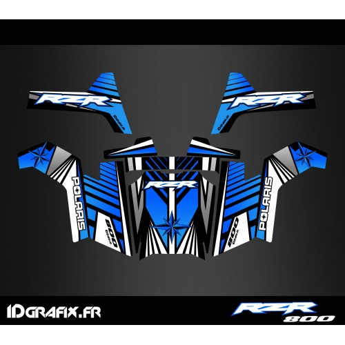 photo du kit décoration - Kit décoration Line Edition (Bleu) - IDgrafix - Polaris RZR 800