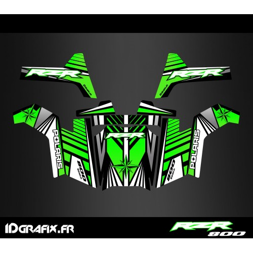 photo du kit décoration - Kit décoration Line Edition (Vert) - IDgrafix - Polaris RZR 800