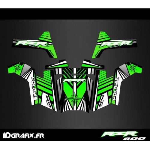 foto del kit, Kit de decoración de la decoración de la Edición en Línea (Verde) - IDgrafix - Polaris RZR 800