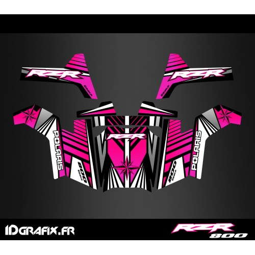 photo du kit décoration - Kit décoration Line Edition (Rose) - IDgrafix - Polaris RZR 800