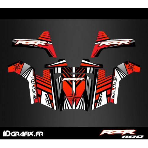photo du kit décoration - Kit décoration Line Edition (Rouge) - IDgrafix - Polaris RZR 800S