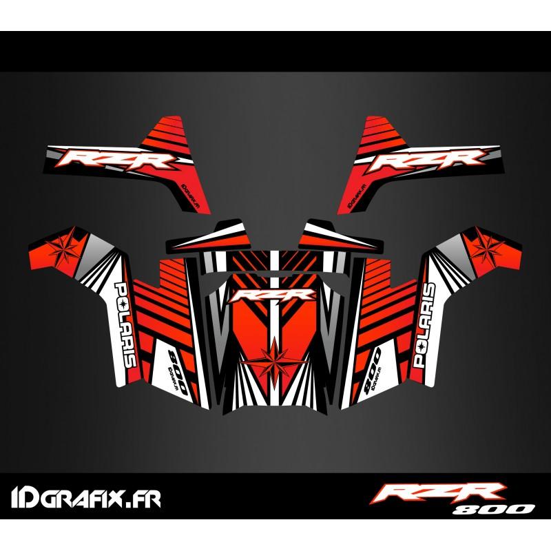 photo du kit décoration - Kit décoration Line Edition (Rouge) - IDgrafix - Polaris RZR 800S