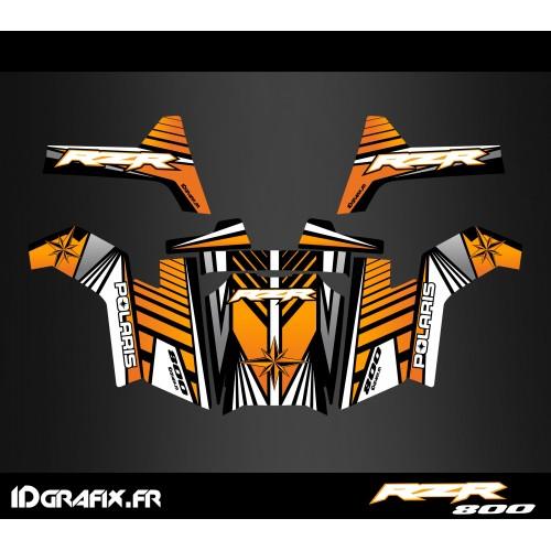 foto del kit, Kit de decoración de la decoración de la Línea de Edición (Naranja) - IDgrafix - Polaris RZR 800S