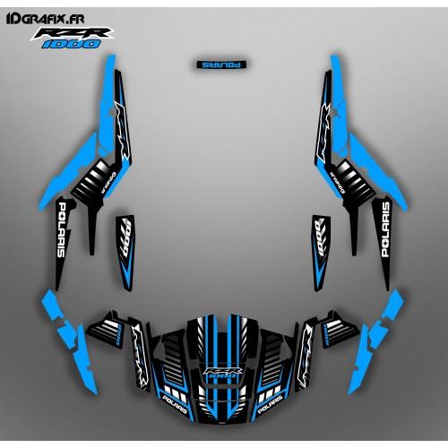 foto del kit, Kit de decoración de la decoración de la Velocidad de Edición (Azul) - IDgrafix - Polaris RZR 1000 XP