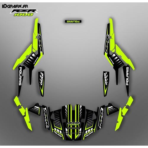 foto del kit, Kit de decoración de la decoración de la Velocidad de Edición (Limone) - IDgrafix - Polaris RZR 1000 XP