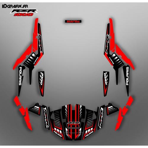 photo du kit décoration - Kit décoration Speed Edition (Red) - IDgrafix - Polaris RZR 1000 XP