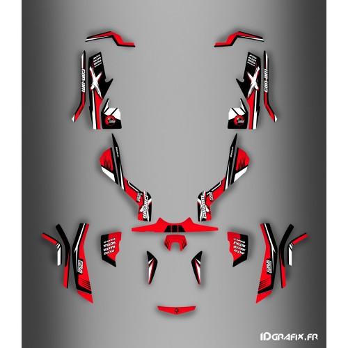 photo du kit décoration - Kit décoration Forum Can Am Series Rouge Full - IDgrafix - Can Am Outlander (G1)