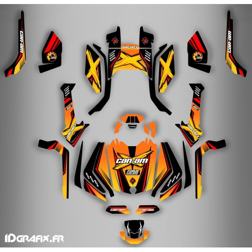 Kit décoration Forum Can Am Series Jaune Full - IDgrafix - Can Am Outlander (G2)