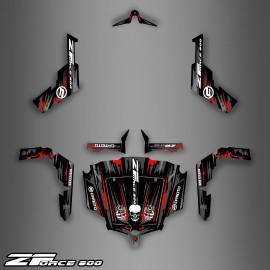 Kit d coration dark red edition idgrafix cf moto for Porte zforce 800