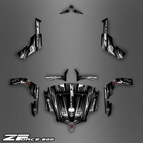 photo du kit décoration - Kit décoration Dark Black Edition - Idgrafix - CF Moto ZForce 800