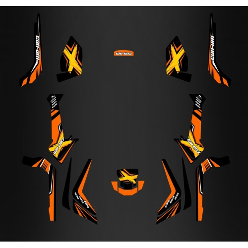 photo du kit décoration - Kit décoration Orange Limited Edition - IDgrafix - Can Am 1000 Outlander