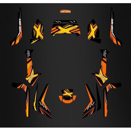photo du kit décoration - Kit décoration Orange Limited Edition - IDgrafix - Can Am 1000 Outlander + Coffre AR