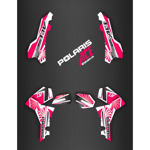 photo du kit décoration - Kit décoration Japan racing Pink - IDgrafix - Polaris Sportsman ACE