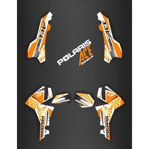photo du kit décoration - Kit décoration Japan racing Orange - IDgrafix - Polaris Sportsman ACE