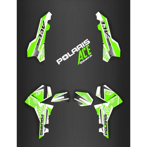 photo du kit décoration - Kit décoration Japan racing Green - IDgrafix - Polaris Sportsman ACE
