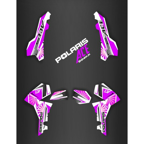 photo du kit décoration - Kit décoration Japan racing Purple - IDgrafix - Polaris Sportsman ACE
