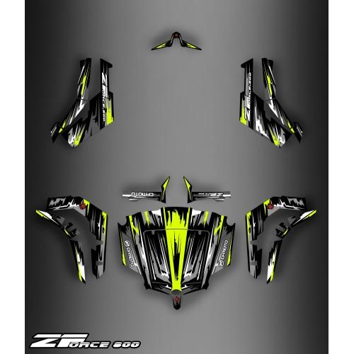 photo du kit décoration - Kit décoration Black/Yellow Edition - Idgrafix - CF Moto ZForce 800