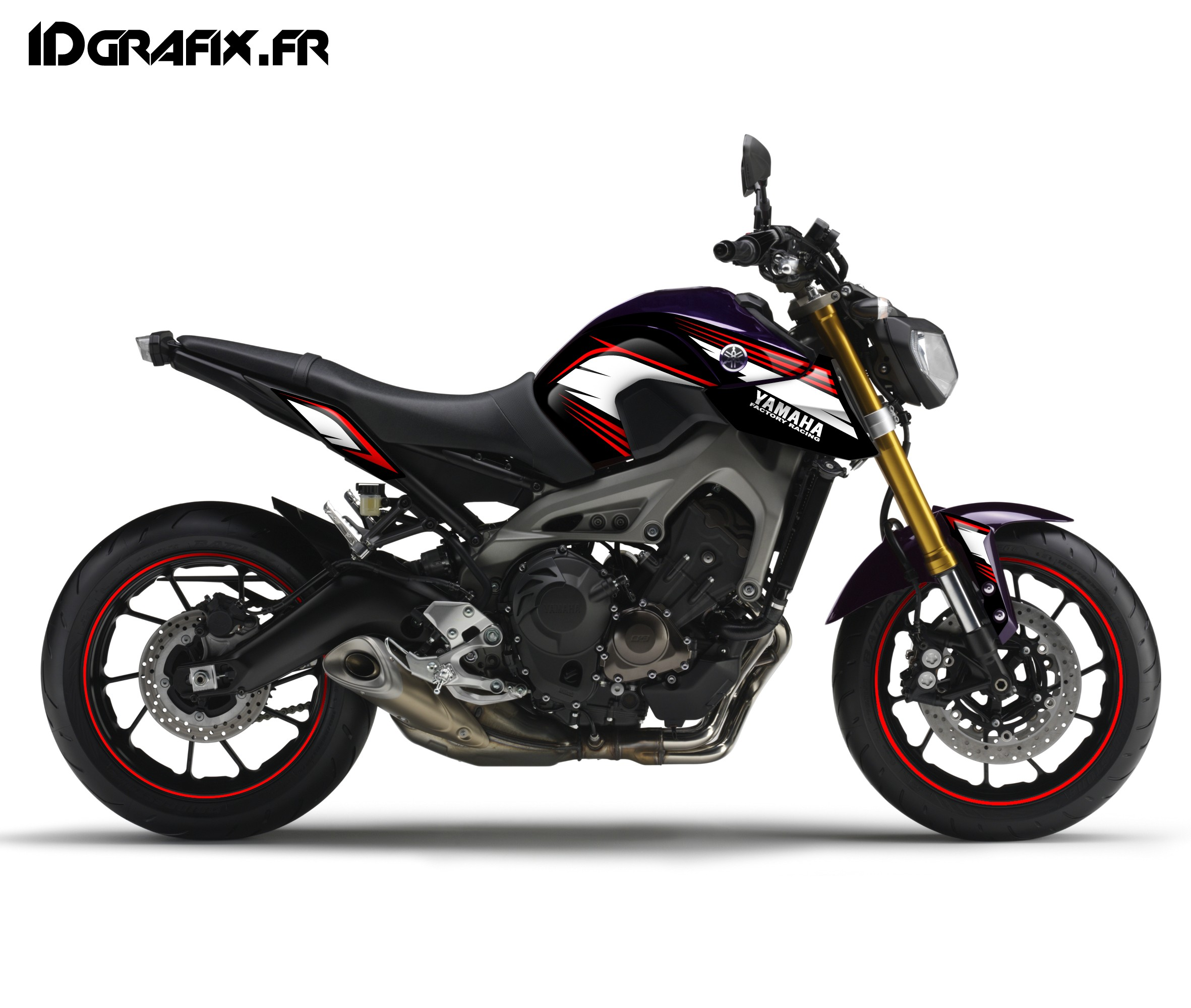 kit decoration racing red idgrafix yamaha mt 09 idgrafix