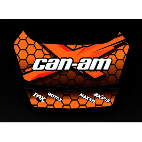 photo du kit décoration - Kit décoration X Team 2 Can Am 2015 - coffre origine BRP