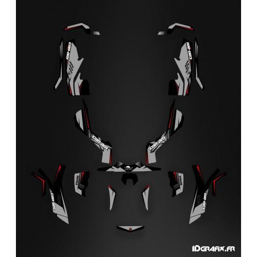 photo du kit décoration - Kit décoration Wasp Series Gris Full - IDgrafix - Can Am Outlander (G1)