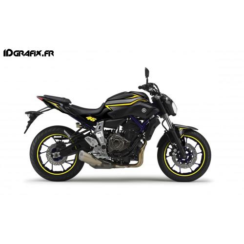 photo du kit décoration - Kit décoration Racing Jaune - IDgrafix - Yamaha MT-07