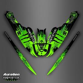 Kit décoration Monster Vert pour Yamaha Super Jet