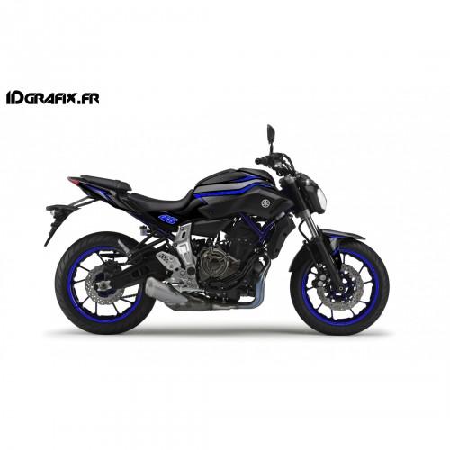 photo du kit décoration - Kit décoration Racing Bleu - IDgrafix - Yamaha MT-07