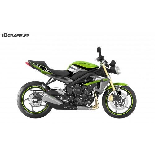 photo du kit décoration - Kit déco Perso pour Triumph Speed triple (vert)