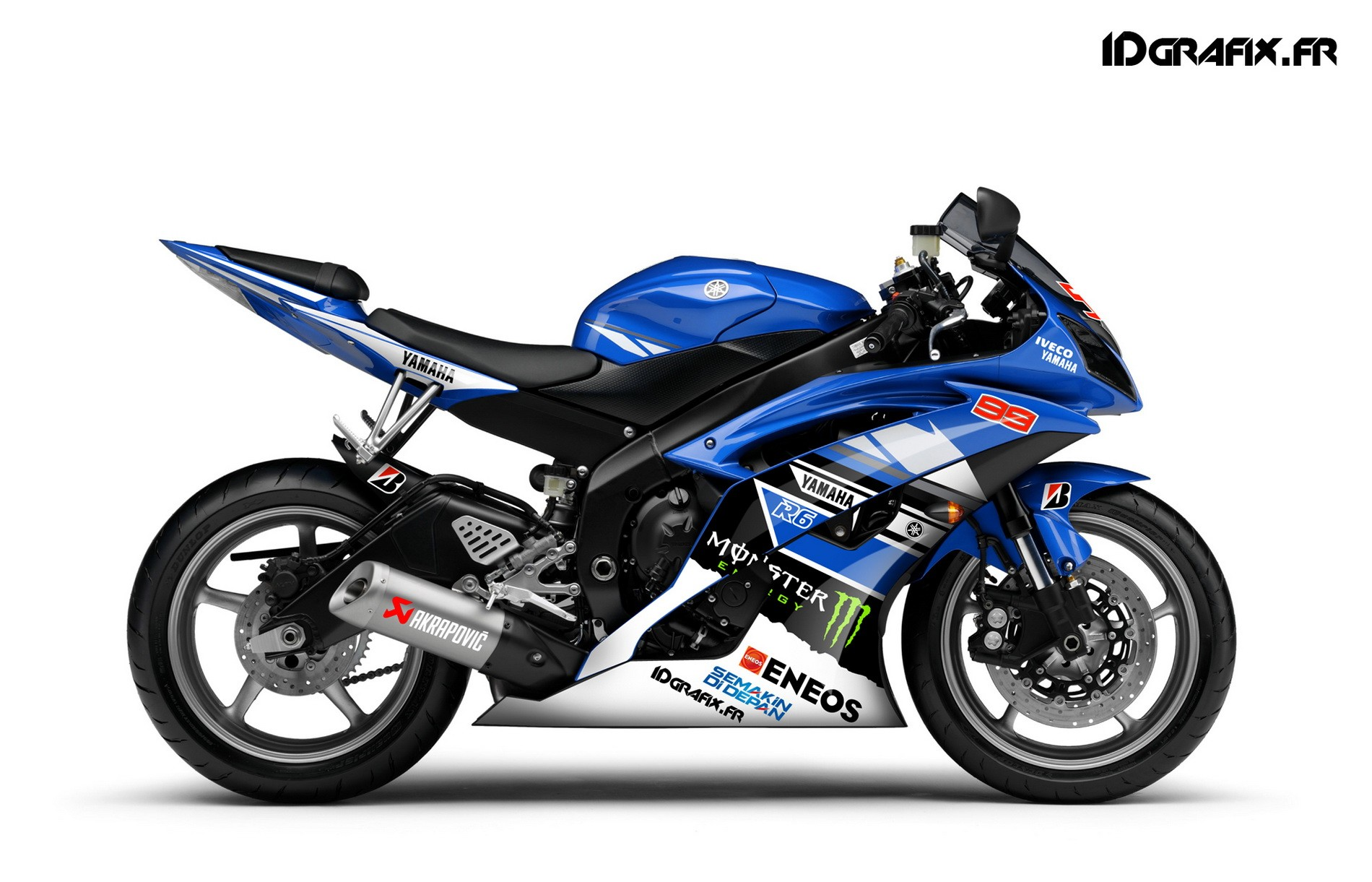 Can Am Outlander 450 >> Kit deco Perso for Yamaha R6 - Race Replica --idgrafix