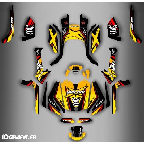 photo du kit décoration - Kit décoration Gorilla Series Full - IDgrafix - Can Am Outlander (G2)