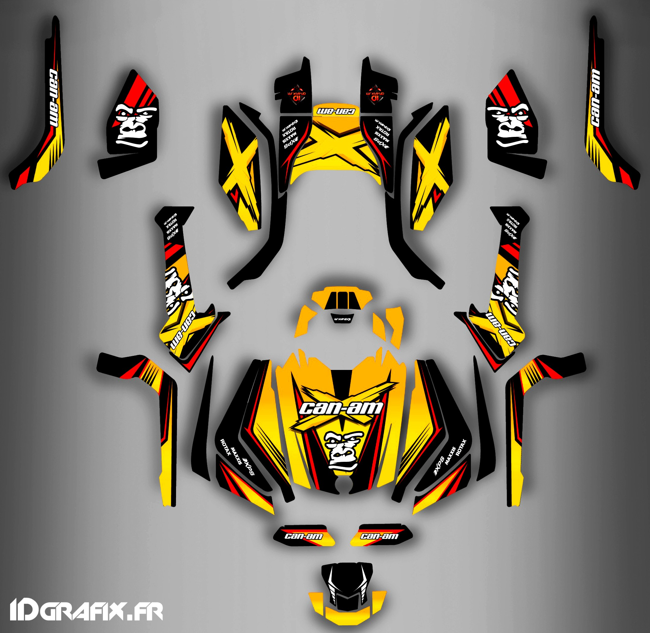 Can Am Outlander 800 >> Kit decoration Gorilla Series Full - IDgrafix - Can Am Outlander (G...