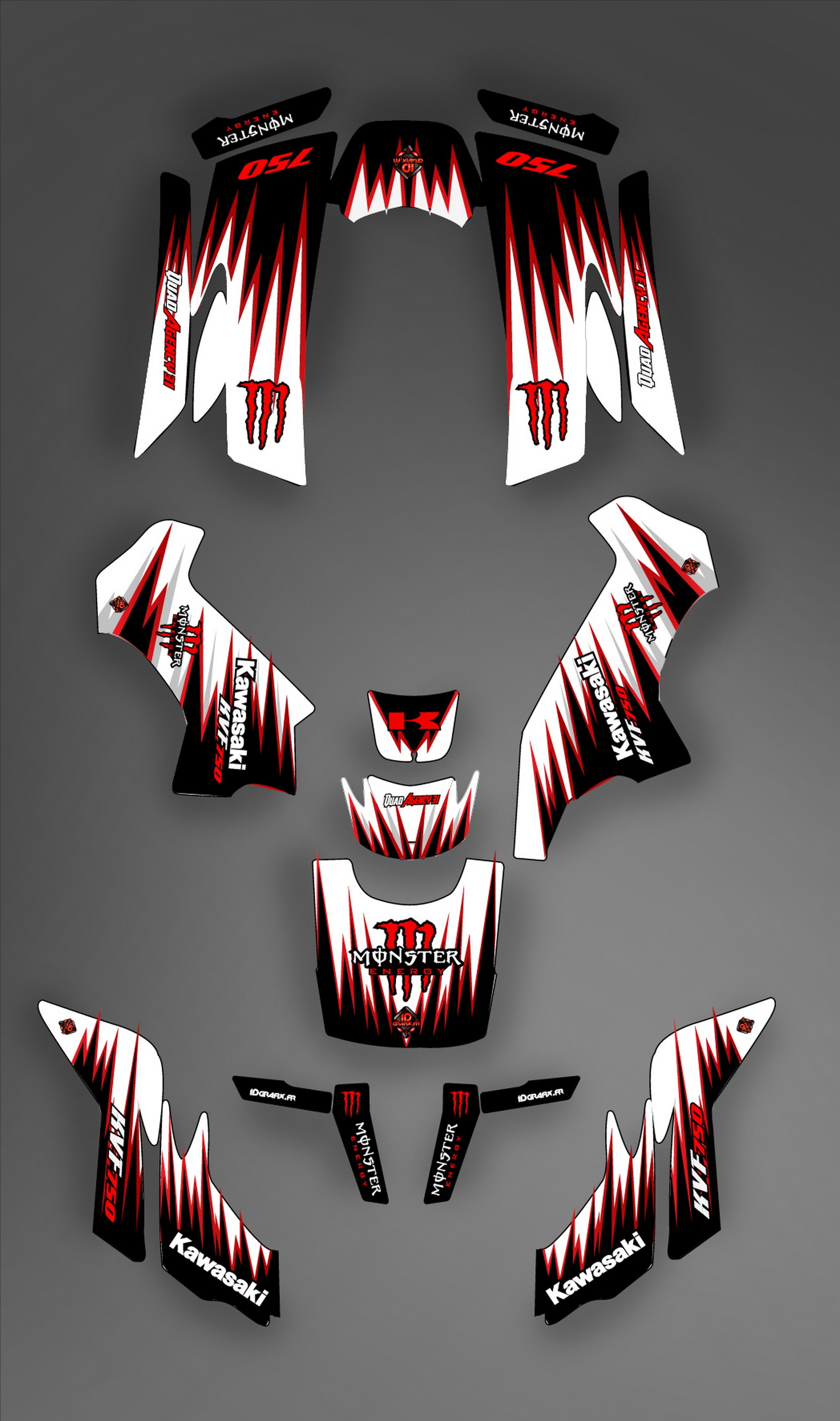 kit deco perso for kawasaki kvf 750 until 2010 idgrafix