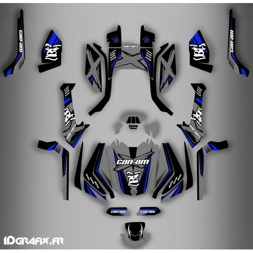 photo du kit décoration - Kit décoration Gorilla Gris Series Full - IDgrafix - Can Am Outlander (G2)