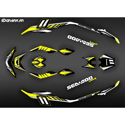 photo du kit décoration - Kit décoration Med Spark Yellow pour Seadoo Spark