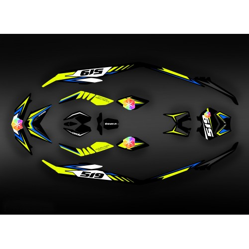 photo du kit décoration - Kit décoration Light Spark Flores pour Seadoo Spark