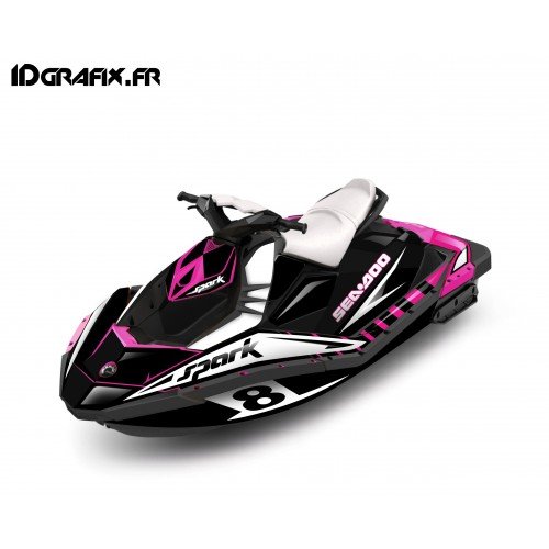 photo du kit décoration - Kit décoration Full Spark Limited Rose pour Seadoo Spark