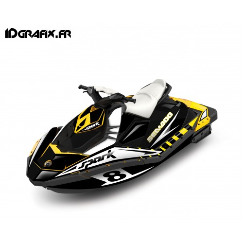 photo du kit décoration - Kit décoration Full Spark Limited Jaune pour Seadoo Spark