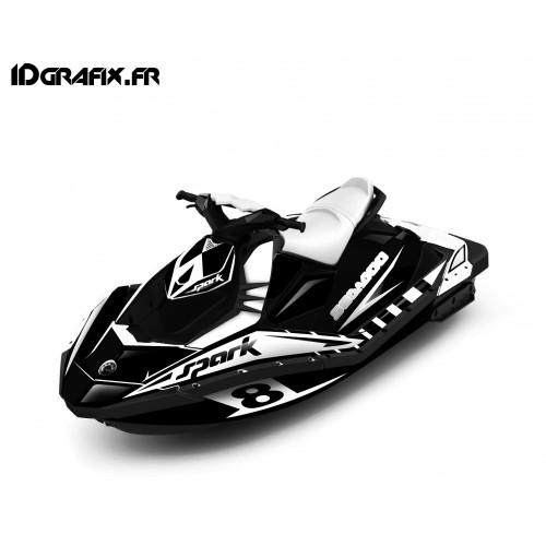 photo du kit décoration - Kit décoration Full Spark Limited Blanc pour Seadoo Spark