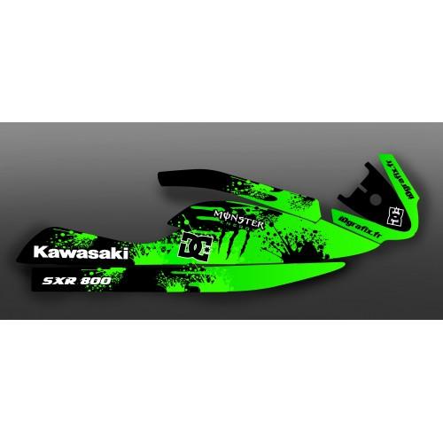photo du kit décoration - Kit décoration Splash vert pour Kawasaki SXR 800