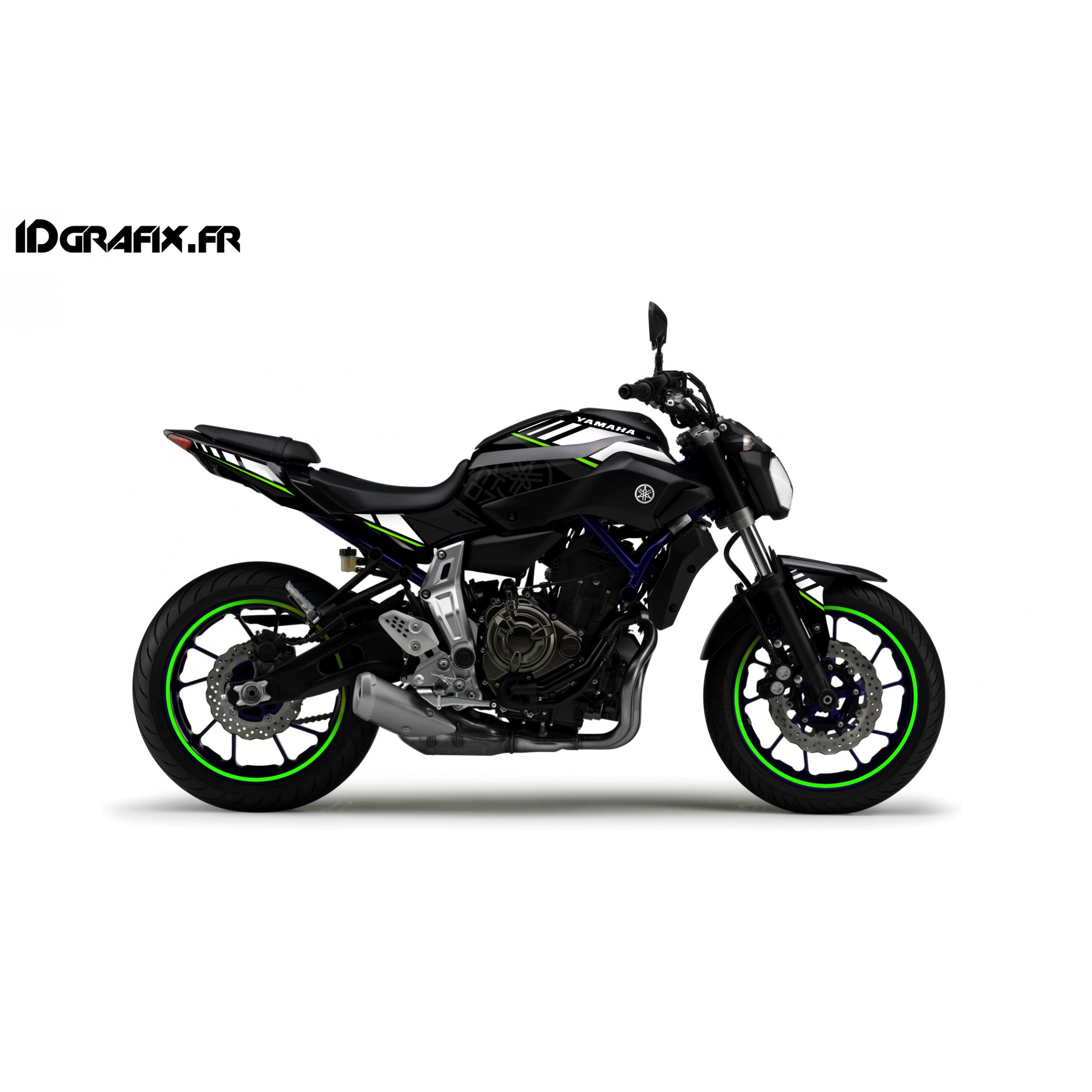 kit d coration ltd vert idgrafix yamaha mt 07. Black Bedroom Furniture Sets. Home Design Ideas